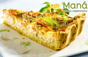 Exquisita cena vegetariana en Maná